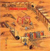 紀州安藤邸相撲の図